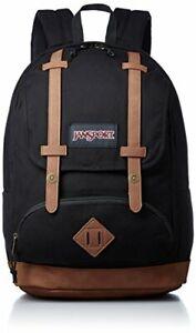 """JanSport Baughman Backpack, Black Canvas JS00T44A0PC 17.5"""" X 12.6"""" X 5.7"""""""