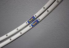 """Pair white Rigida SX100 36H Clincher Rims 700C 28"""" Drahtreifen Felgen"""