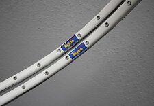 "Pair White rigida sx100 36h Clincher rims 700c 28"" cable neumáticos llantas"