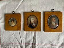 Drei antike Miniaturmalereien Miniaturbilder Lupenmalereien