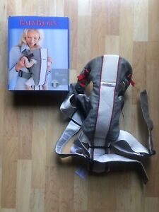BabyBjorn AIR Baby Carrier Mesh Silver Gray/White 0+Months Up to 25LBS
