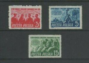 Poland 1948 Trades Union Congress Warsaw Mint MH Set
