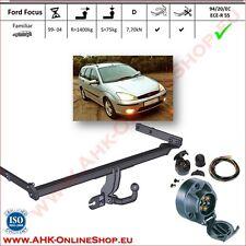 Gancio traino fisso Ford Focus SW Familiare 1998-2004 + kit elettrico 7-poli