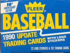 Five 1990 Fleer Factory Sealed Baseball Update Sets With Frank Thomas Rookie