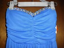 Womens Jus d'Orange Blue Formal/Cocktail Strapless Long Dress Beautiful S/M NWT