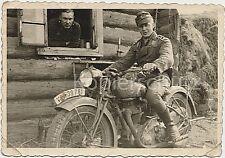 Due soldati MOTO wk2 rilevatore di Krad NSU 351 osi immagine foto 10x14.5cm