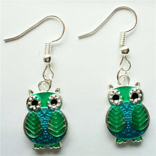 1 pair  Women Ornament Fashion Accessories Charm Jewelry silvery Owl Earring #90