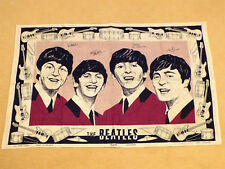 Beatles Memorabilia Linen Tea Towel Leinentuch Irish Ulster Irland 1965