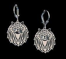 Persian Cat Earrings -  Fashion Jewellery - Silver Plated, Leverback Hook