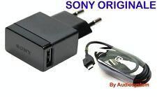 CARICA BATTERIA ORIGINALE PER SONY XPERIA E3 E4 M2 C3 +CAVO USB MICRO CARICATORE