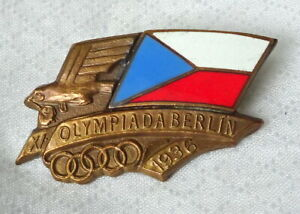 1936 BERLIN Olympics CZECHOSLOVAK NOC pin BADGE Olympic Games CZECHOSLOVAKIA CZ