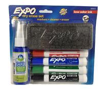 EXPO Low-Odor Dry Erase Marker Starter Set, Broad Chisel Tip, Assorted Colors Ne