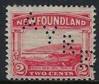 Newfoundland Perfin A12-AYRE (& Sons): Scott 132, 2c Trinity - MINT partial gum