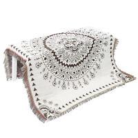 Deux tons coton chaise canapé canapé lit jeté couverture à franges couverture ME