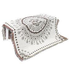 Deux tons coton chaise canapé canapé lit jeté couverture à franges de  couverture 0aa73bb452c