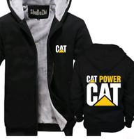 Caterpillar Power Hoodie Zip up Jacket Thicken Coat Winter Warm cosplay Jackets