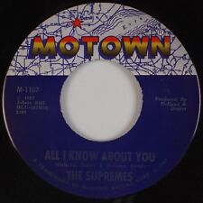 THE SUPREMES: All I Know About You / Happening MOTOWN Soul 45 VG++
