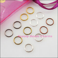 25 New Gold Dull Silver Bronze Copper Black Plated Jump Ring Open Connector 20mm