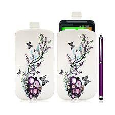 Housse coque étui pochette pour HTC Desire HD avec motif HF01 + Stylet luxe