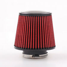 """4"""" Round Tapered Universal Air Intake Cone Filter Chrome For Car Truck SUV 100mm"""
