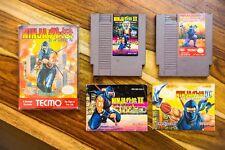 Ninja Gaiden 1, 2 II, 3 III TRILOGY Nintendo Entertainment System NES Tecmo
