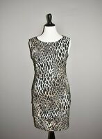 DRESSBARN $68 Snake Print Cascading Tiered Sheath Dress Size 12