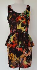 T by BETTINA LIANO Black/Bright Floral Dress Size 10