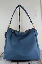 COACH 93811 Shay Shoulder Bag Lake Blue/Brass