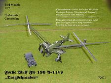 "Focke Wulf FW 190 a-11/ts ""Planeurs"" 1/72 Bird Models Kit Conversion/conversion"