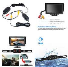 "Set Of Car Backup Camera Rear View System Night Vision+Wireless 4.3"" LCD Monitor"