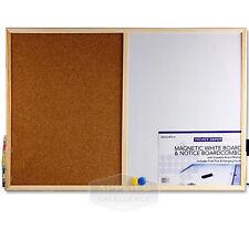 New Magnetic Combination Whiteboard & Corkboard Memo Combo Notice Planner Board
