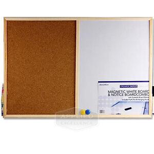 Magnetic Corkboard Memo Board Combo Notice Planner Combination Whiteboard