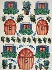 CIALDE di riso per decoupage Decopatch Scrapbook craft Sheet porte, finestre, fiore 3