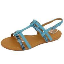 Sandalias y chanclas de mujer azules, talla 36