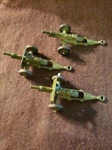 Dinky Toys Military Army 3 Field Guns
