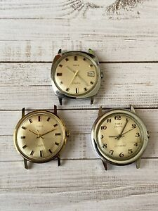 Lot Of 3 Vintage Timex Watches Timex Electric 1970s Watches Read Description