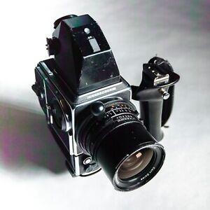 Hasselblad 500 ELX Kit w/ Body, Metered Prism, Film Back, Grip, 50mm Lens