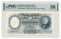 ARGENTINA banknote 500 Pesos 1964 PMG AU 58 Choice About Uncirculated