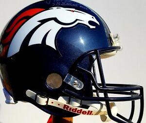 John Elway Denver Broncos Autographed Riddell NFL Authentic F/S Helmet Pristine