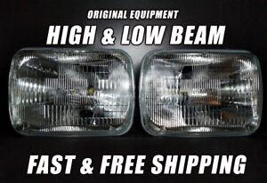 OE Front Halogen Headlight Bulb For GMC G2500 1979-1995 Low & High Beam x2