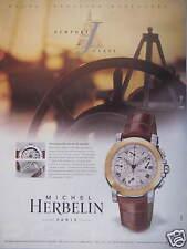PUBLICITÉ PAPIER 2000 MONTRE NEWPORT CLASS MICHEL HERBELIN - ADVERTISING