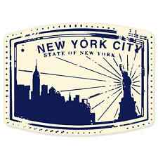 "New York City travel car bumper window suitcase sticker 5"" x 4"""