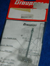 vintage GRAUPNER 6211.23 Getriebeachse mit Zahnrad PROPELLER SHAFT axe hélice
