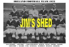 IRELAND FOOTBALL TEAM PRINT 1953 (BLANCHFLOWER / BINGHAM / CUSH / McILROY )