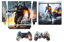 Skin Sticker Cover for PS3 PlayStation 3 Slim and 2 controller skins Battle Q259