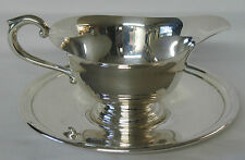 Priesner Silver Co Sterling Silver Gravy Boat with Saucer