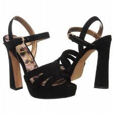 Sam Edelman TARYN Ante Negro Plataformas Zapatos De Tacón 11 NUEVO