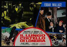 FOTOBUSTA 2, IL LUNGO COLTELLO DI LONDRA Circus of Fear THRILLER, WALLACE POSTER