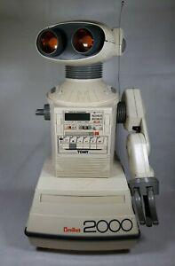 Vintage Tomy Omnibot 2000 with Tray, Battery and Manual