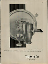 1955 Tiffany & CO. Sterling Silver Plate and Cup Vintage Print Ad 2392